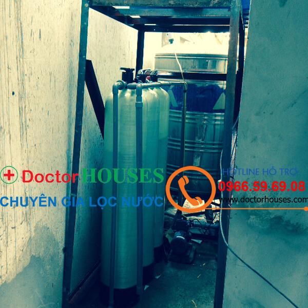 Công trình xử lý nước giếng khoan nhiễm sắt, mangan, canxi tại Sài Đồng, Long Biên