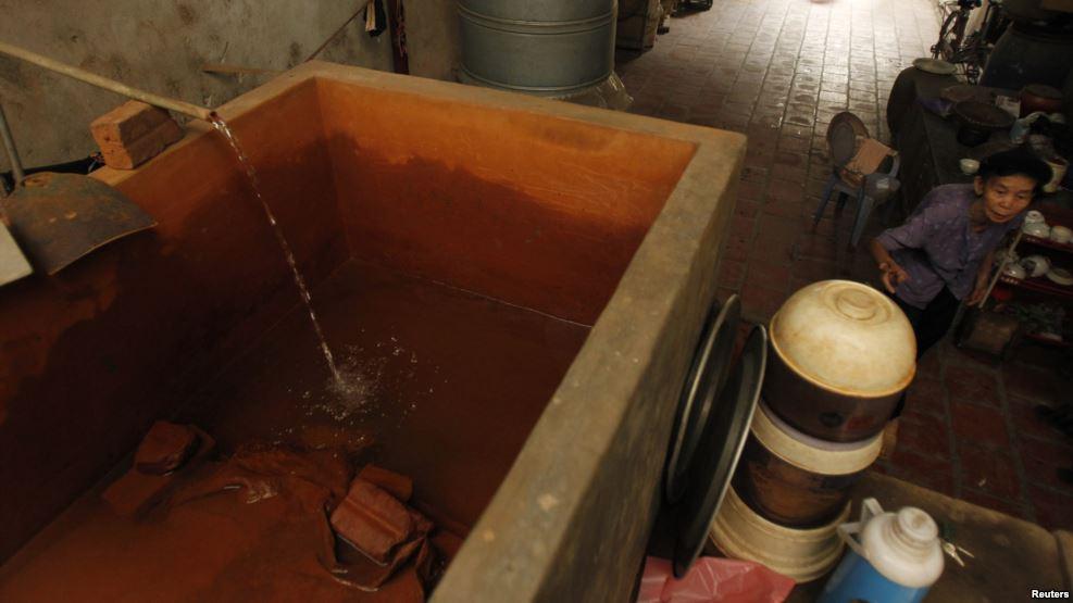 Xử lý nước giếng khoan nhiễm sắt, canxi tại Thạch Bình, Thạch Thất, Hà Nội