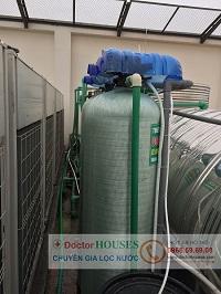 Hệ thống xử lý nước giếng khoan nhiễm đá vôi tại FLC Vĩnh Thịnh