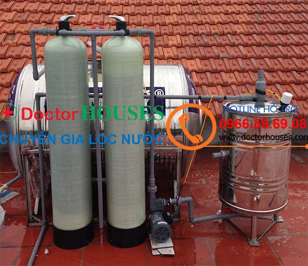 Xử lý nước giếng khoan có mùi tanh, nhiễm sắt, mangan tại Bắc Giang