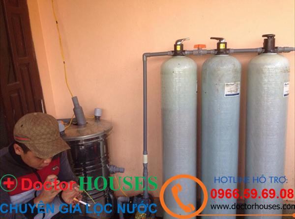 Xử lý nước giếng khoan tại gia đình cô Nga, Vân Canh, Hoài Đức, Hà Nội