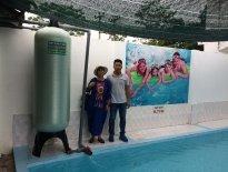 Xử lý nước giếng khoan tại bể bơi Thanh Quang - La Phù - Hoài Đức