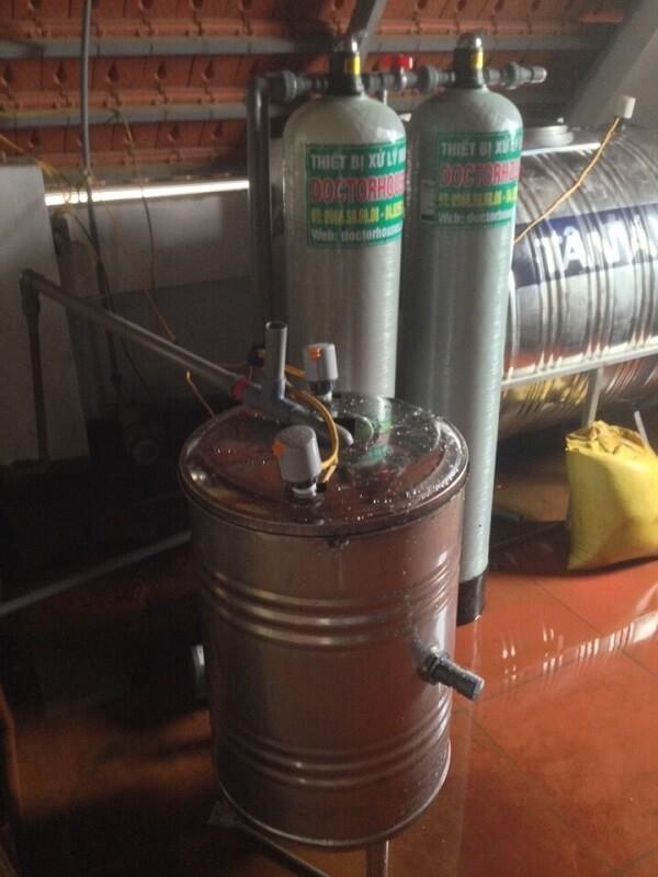 Xử lý nước giếng khoan tại Vân Hà - Đông Anh