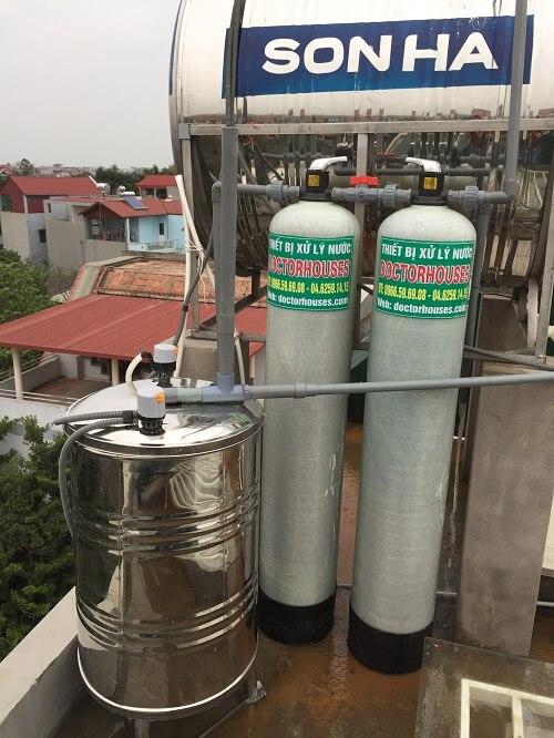 Xử lý nước giếng khoan tại Bắc Hồng - Đông Anh