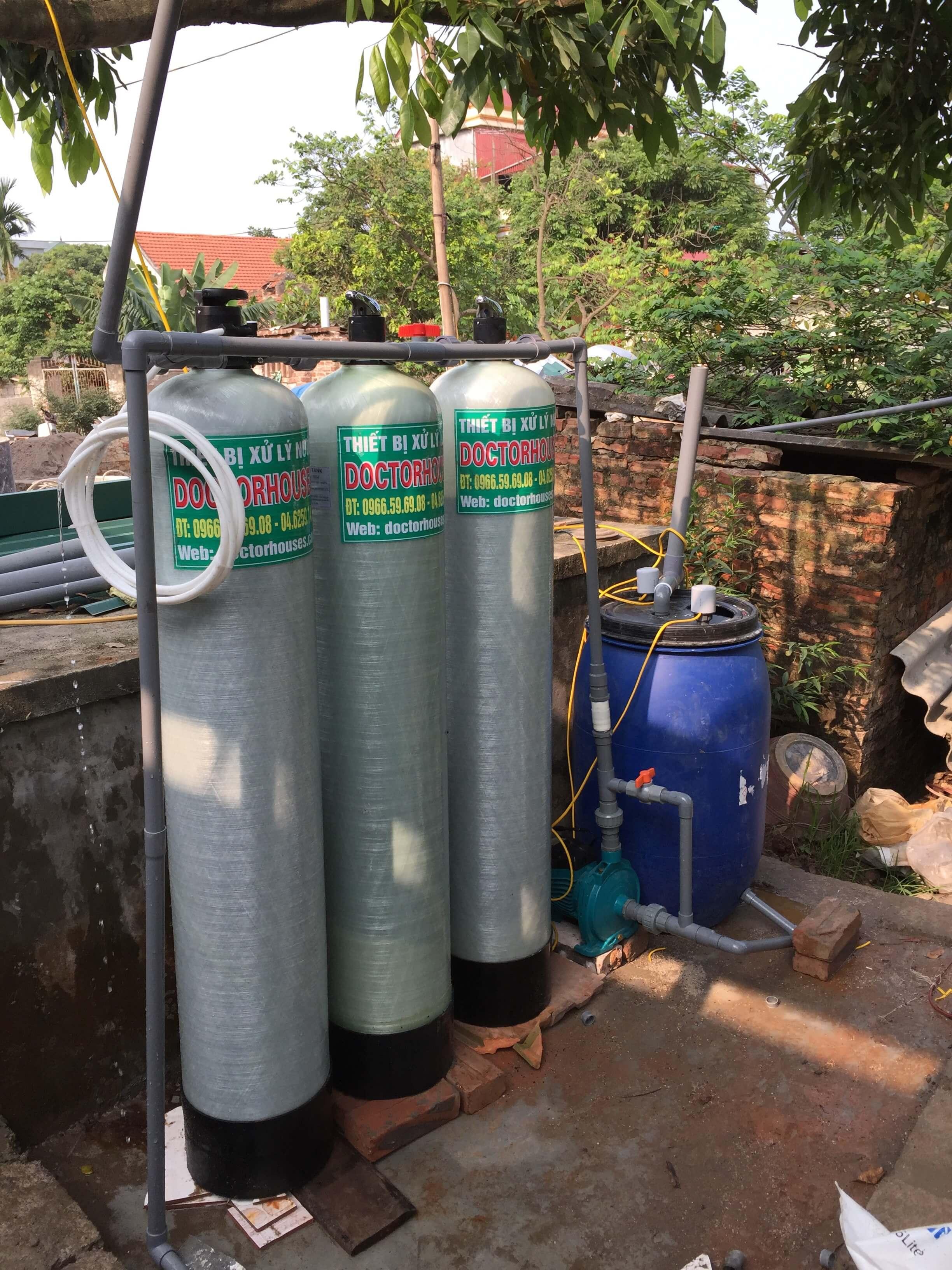 Thiết bị xử lý nước giếng khoan tại Kim Động - Hưng Yên