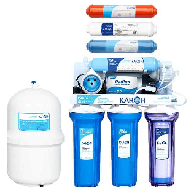 Máy lọc nước RO Karofi KT80A 8 cấp lọc