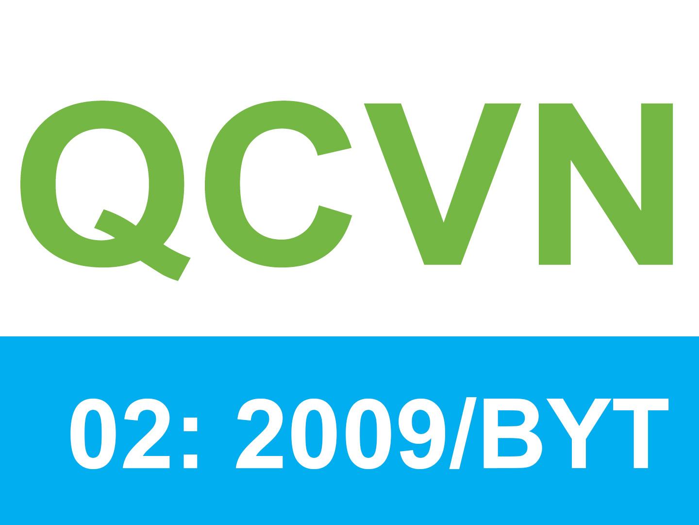 Quy chuẩn nước sinh hoạt QCVN 02:2009/BYT