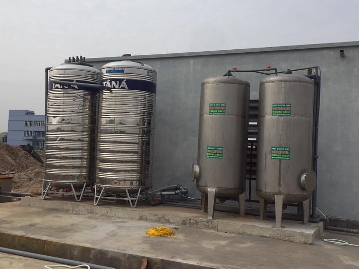 Xử lý nước giếng khoan công nghiệp 100m3/ngày đêm tại Hưng Yên