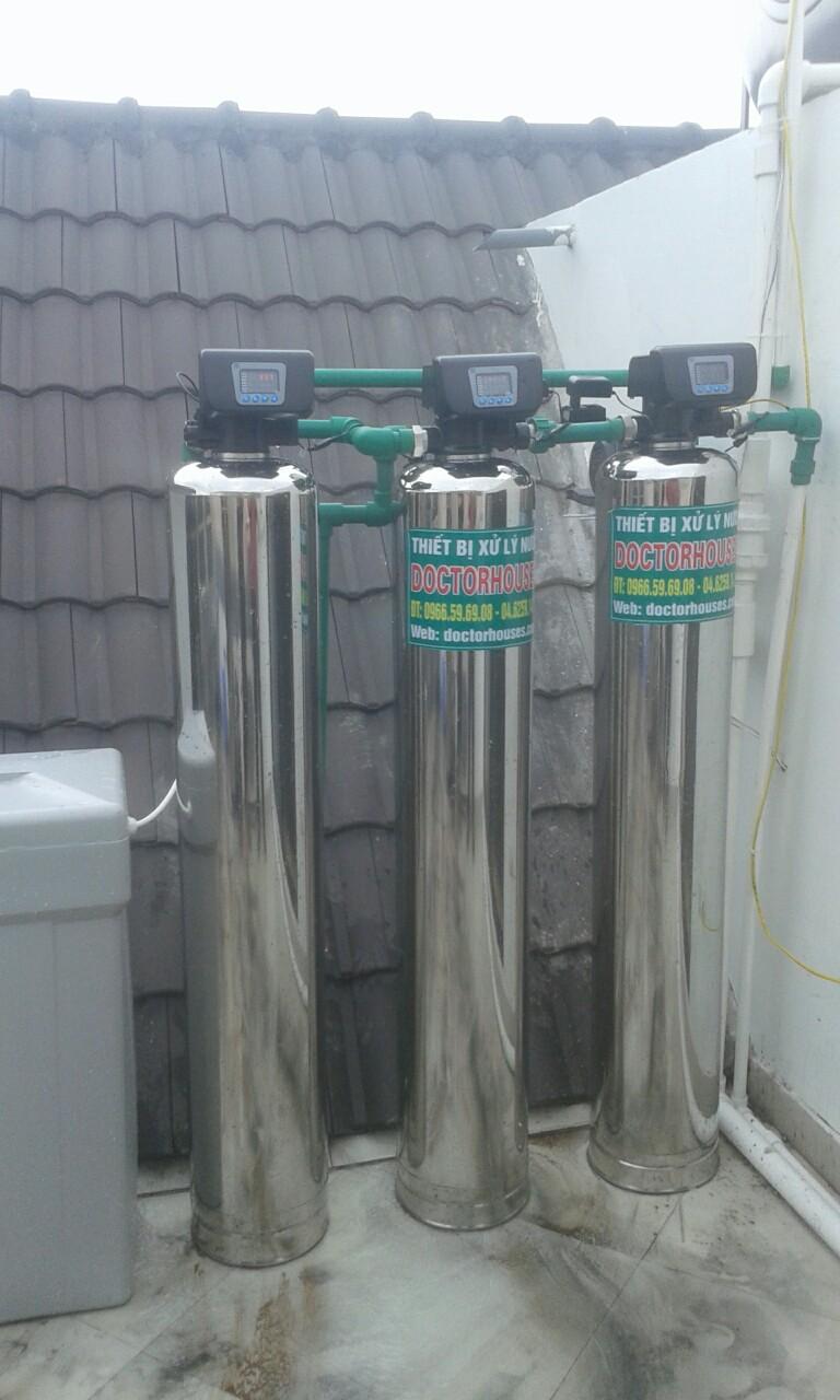 Công trình xử lý nước máy tại biệt thự Hoa Lan 819 Vinhomes