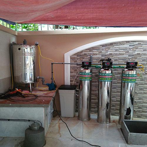 Lọc tổng biệt thự DHGK03 autovalve INOX tại Mê Linh