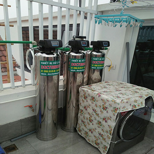 Lọc tổng biệt thự DH03 AutoValve INOX tại Hoa Sữa 5 – Vinhomes Riverside