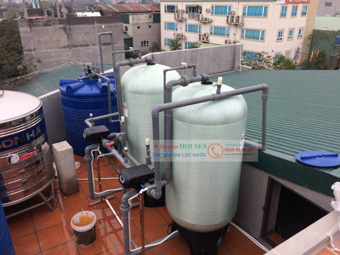 Lọc nước giếng công suất lớn cho công ty