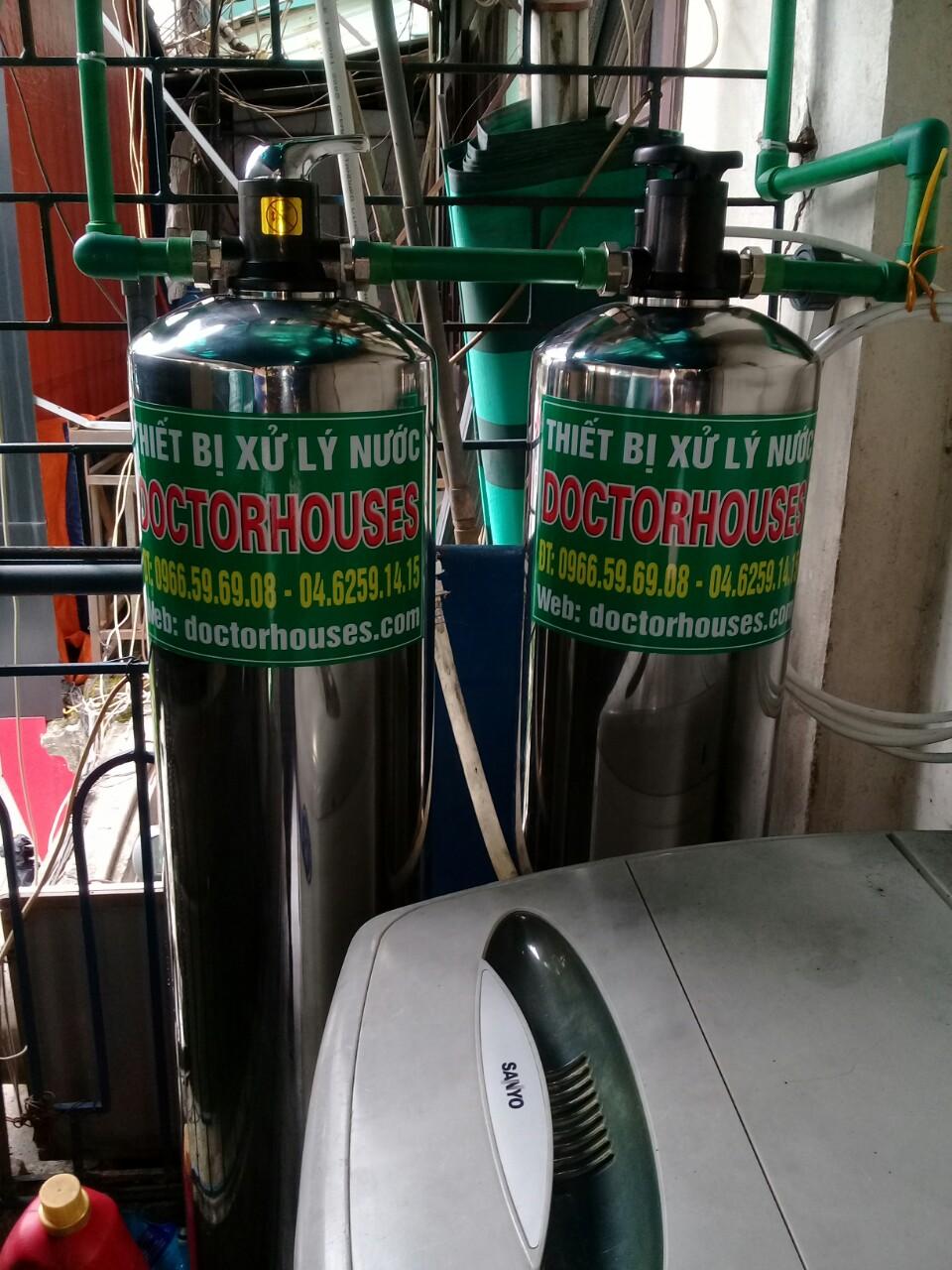 Lắp đặt hệ thống lọc tổng sinh hoạt DH02C inox cao cấp tại Hà Đông