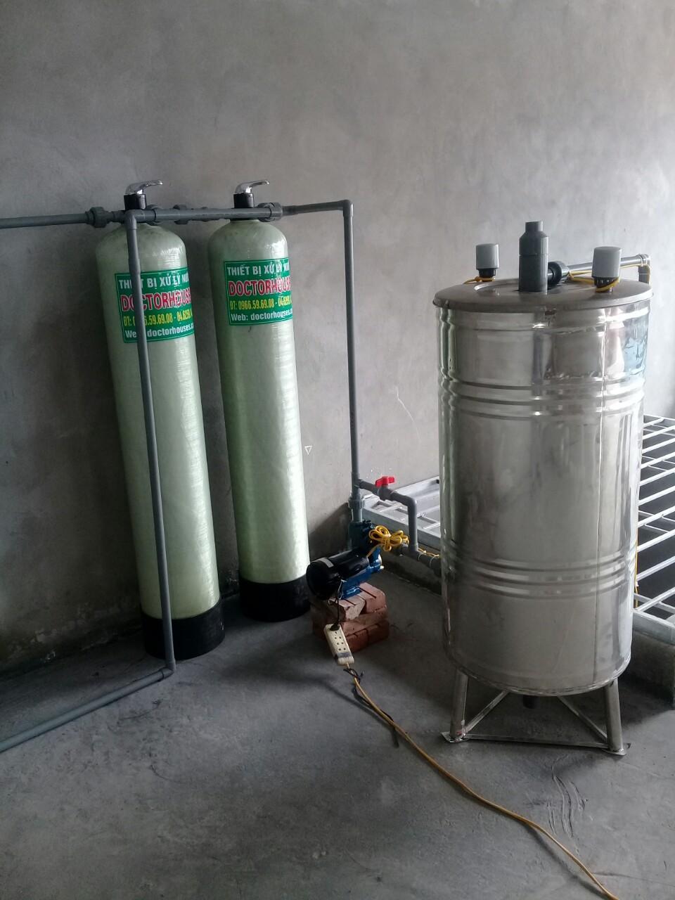 Công trình lắp đặt hệ thống lọc nước giếng khoan nhiễm sắt tại Hưng Yên