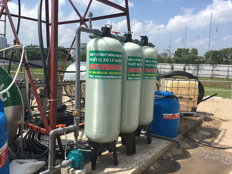 Lắp đặt hệ thống lọc nước giếng khoan công suất 3m3/giờ tại Thanh Liệt, Thanh Trì, Hà Nội