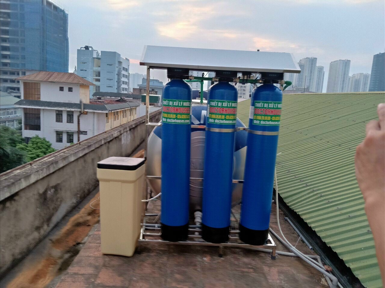 Lắp đặt lọc nước tổng sinh hoạt cao cấp tại Học Viện Kỹ Thuật Quân Sự