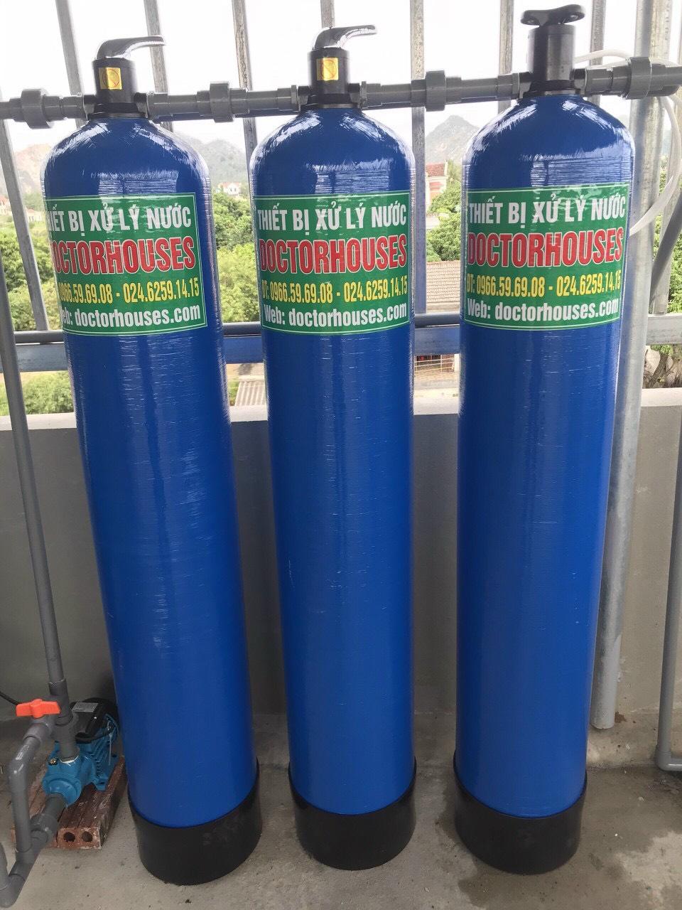 Lắp đặt hệ lọc tổng xử lý nước giếng khoan tại Thanh Hóa