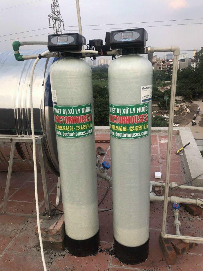 Lắp đặt hệ lọc tổng cao cấp xử lý nước máy nhiễm mangan tại Hoàng Mai