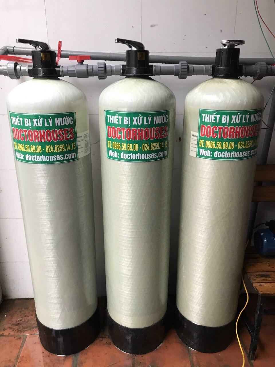 Lắp đặt lọc tổng xử lý nước giếng khoan Hà Đông
